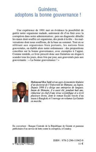 4eme Guinéens, adoptons la bonne gouvernance!