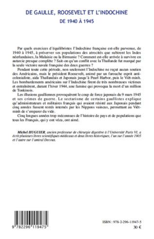 4eme De Gaulle, Roosevelt et l'Indochine de 1940 à 1945