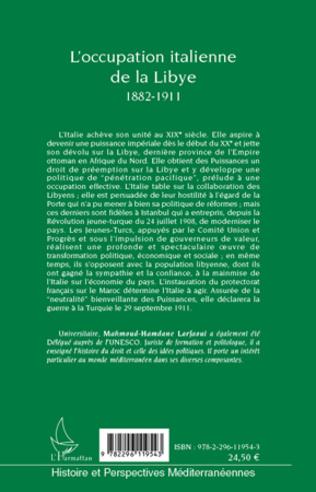 4eme L'occupation italienne de la Libye 1882-1911