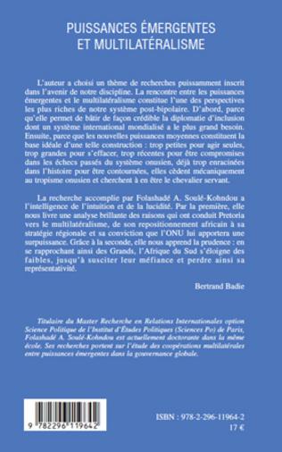 4eme Puissances émergentes et multilatéralisme