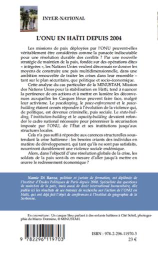 4eme L'ONU en Haïti depuis 2004