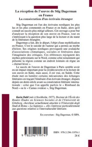 4eme La réception de l'oeuvre de Stig Dagerman en France