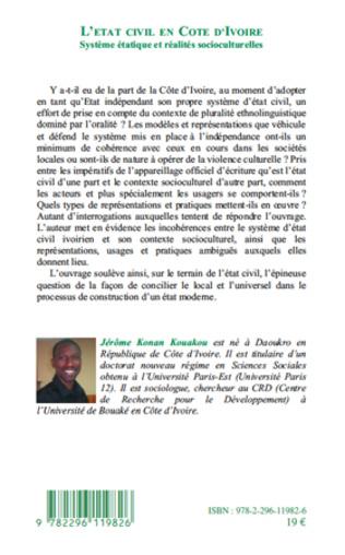 4eme L'état civil en Côte d'Ivoire
