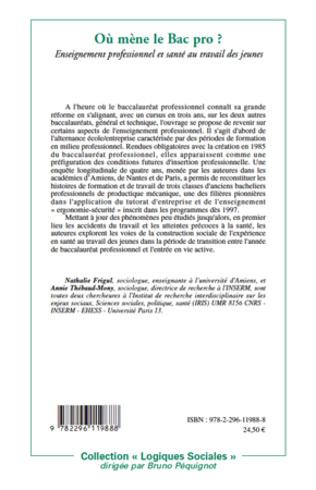 4eme L'ENSEIGNEMENT PROFESSIONNEL ET LES ENJEUX DE SANTE AU TRAVAIL