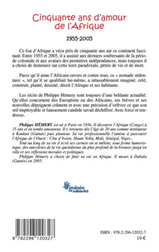 4eme Cinquante ans d'amour de l'Afrique