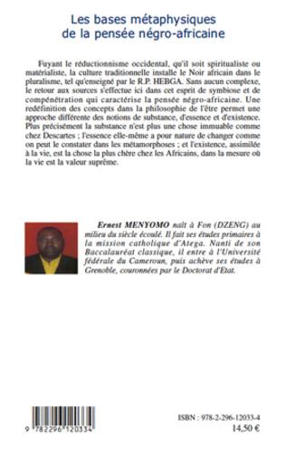 4eme Les bases métaphysiques de la pensée négro-africaine