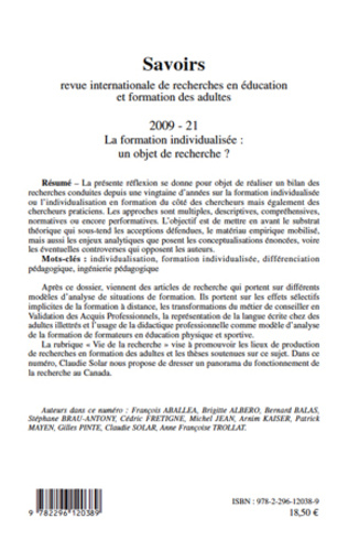 4eme La formation individualisée: un objet de recherche ?