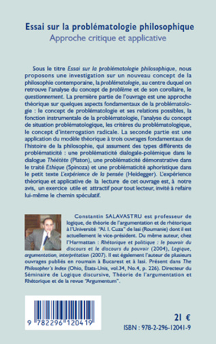 4eme Essai sur la problématologie philosophique