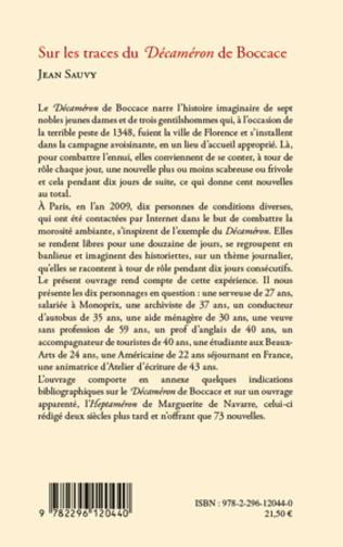 4eme Sur les traces du Décaméron de Boccace