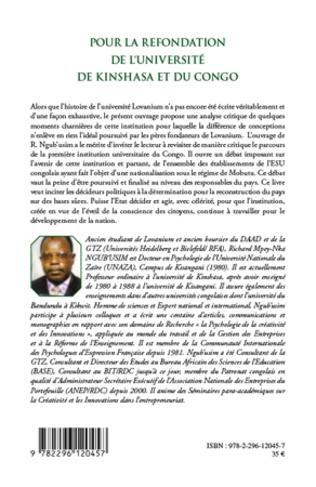 4eme Pour la refondation de l'université de Kinshasa et du Congo