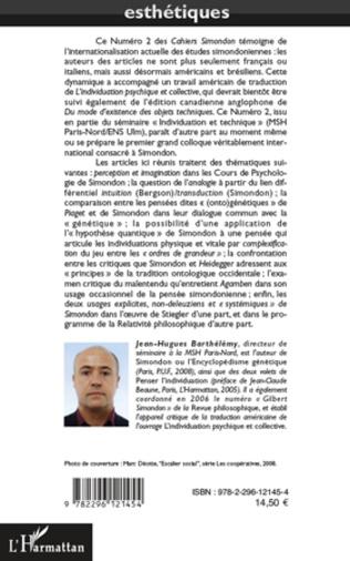 4eme SUR L'ARCHITECTONIQUE DE DU MODE D'EXISTENCE DES OBJETS TECHNIQUES