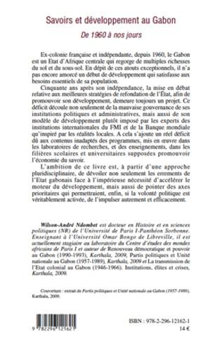 4eme Savoirs et développement au Gabon