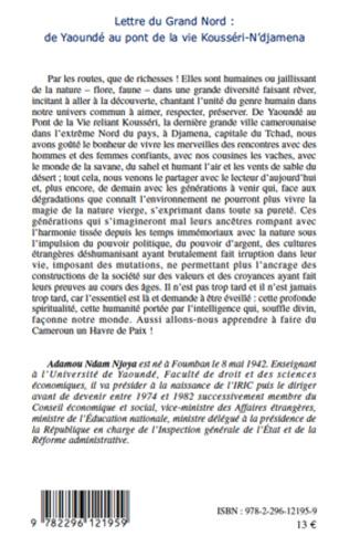 4eme Lettre du grand nord: de Yaoundé au pont de la vie