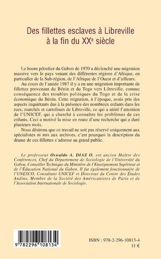 4eme Des fillettes esclaves à Libreville à la fin du XXe siècle