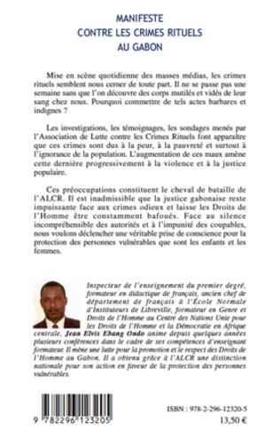 4eme Manifeste contre les crimes rituels au Gabon