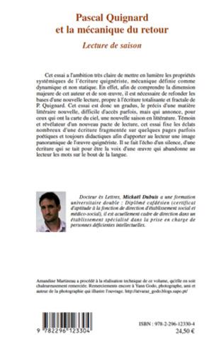4eme Pascal Quignard et la mécanique du retour