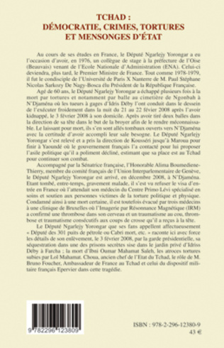 4eme Tchad : démocratie, crimes, tortures et mensonges d'Etat