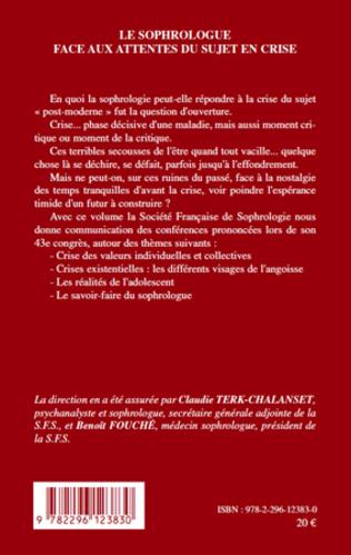 4eme Le sophrologue face aux attentes du sujet en crise