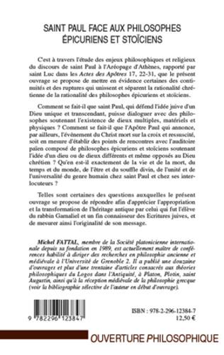 4eme Saint Paul face aux philosophes épicuriens et stoïciens