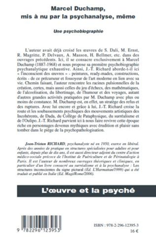 4eme Marcel Duchamp, mis à nu par la psychanalyse, même