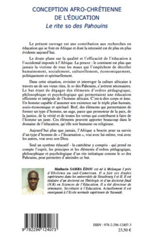 4eme Conception afro-chrétienne de l'éducation