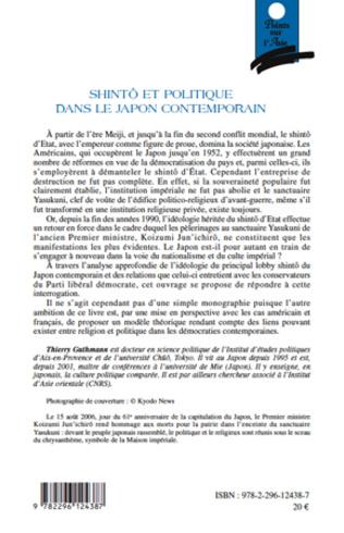 4eme Shintô et politique dans le Japon contemporain