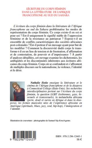 4eme L'écriture du corps féminin dans la littérature de l'Afrique francophone