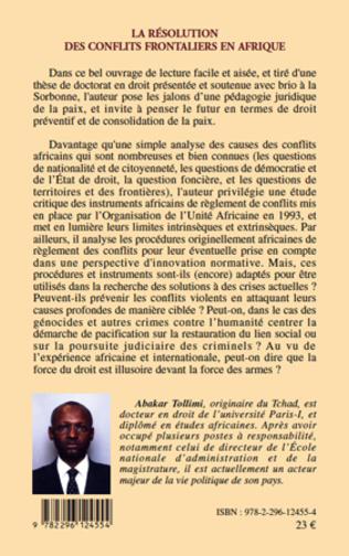 4eme La résolution des conflits frontaliers en Afrique