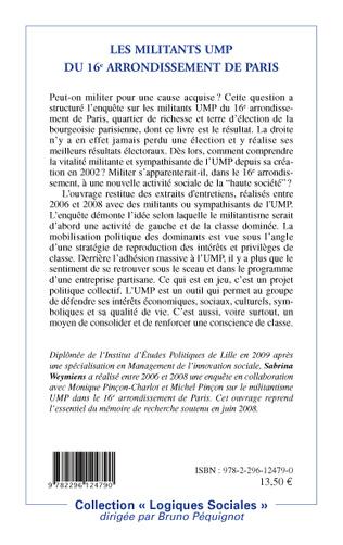 4eme Les militants UMP du 16e arrondissement de Paris
