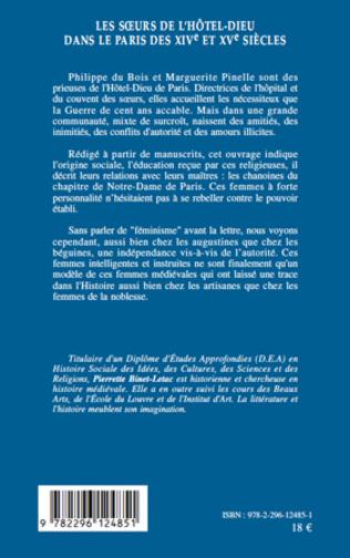 4eme Les sœurs de l'Hôtel-Dieu dans le Paris des XIVe et XVe siècles
