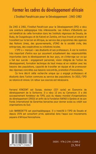 4eme Former les cadres du développement africain