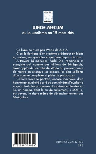 4eme Wade-mecum ou le Wadisme en 15 mots-clés