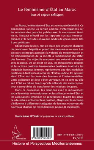 4eme Le féminisme d'Etat au Maroc
