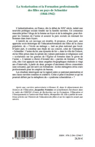 4eme La Scolarisation et la Formation professionnelle des filles au pays de Schneider