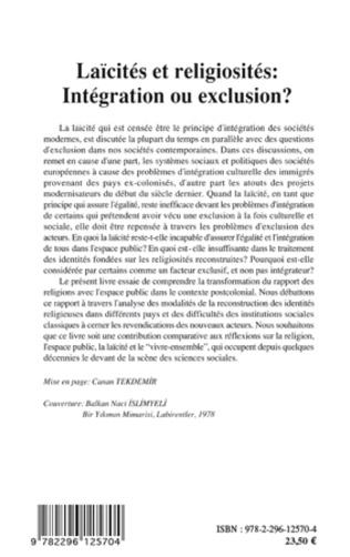 4eme Laïcités et religiosités : Intégration ou exclusion ?