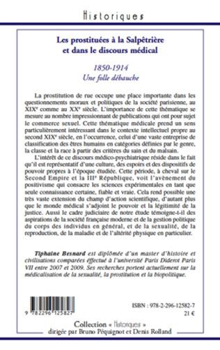 4eme Les prostituées à la Salpêtrière et dans le discours médical (1850-1914)