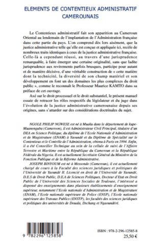 4eme Eléments de contentieux administratif camerounais