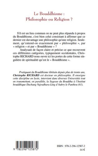 4eme Le Bouddhisme : Philosophie ou Religion ?