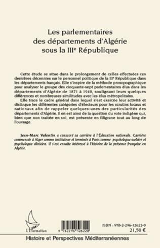4eme Les parlementaires des départements d'Algérie sous la IIIe République