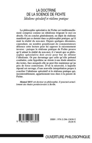 4eme La doctrine de la science de Fichte