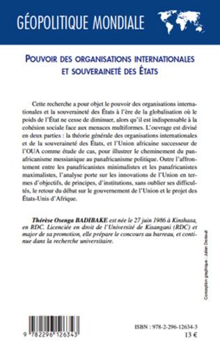 4eme Pouvoir des organisations internationales et souveraineté des Etats