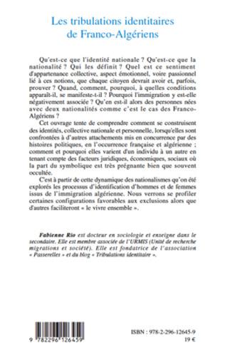 4eme Les tribulations identitaires de Franco-Algériens