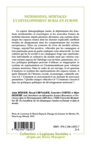 4eme Patrimoines, héritages et développement rural en Europe