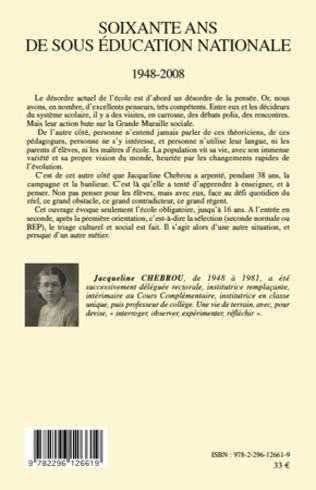 4eme Soixante ans de sous éducation nationale 1948-2008
