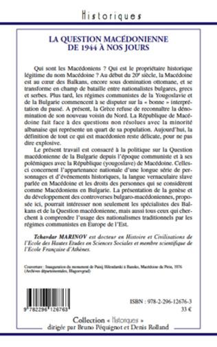 4eme La question macédonienne de 1944 à nos jours