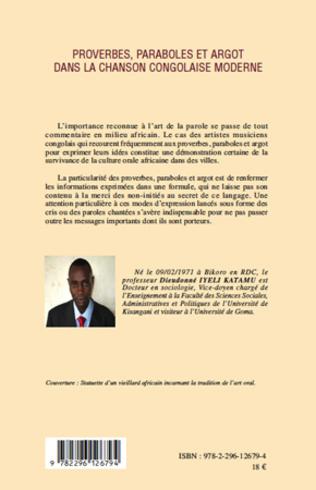 4eme Proverbes, paraboles et argot dans la chanson congolaise moderne