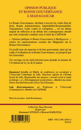 4eme Opinion publique et bonne gouvernance à Madagascar