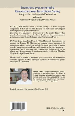 4eme Entretiens avec un empire, rencontres avec les artistes Disney (Volume I) Volume II également disponible