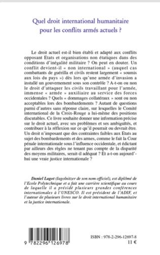 4eme Quel droit international humanitaire pour les conflits armés actuels ?