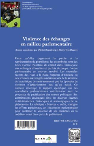 4eme Violence des échanges en milieu parlementaire